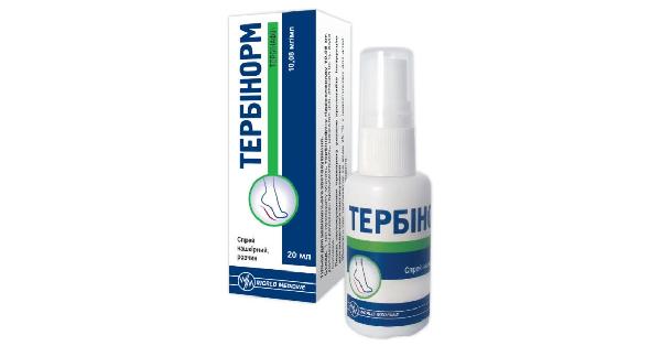 ТЕРБИНОРМ спрей накожный (TERBINORM cutaneous spray)