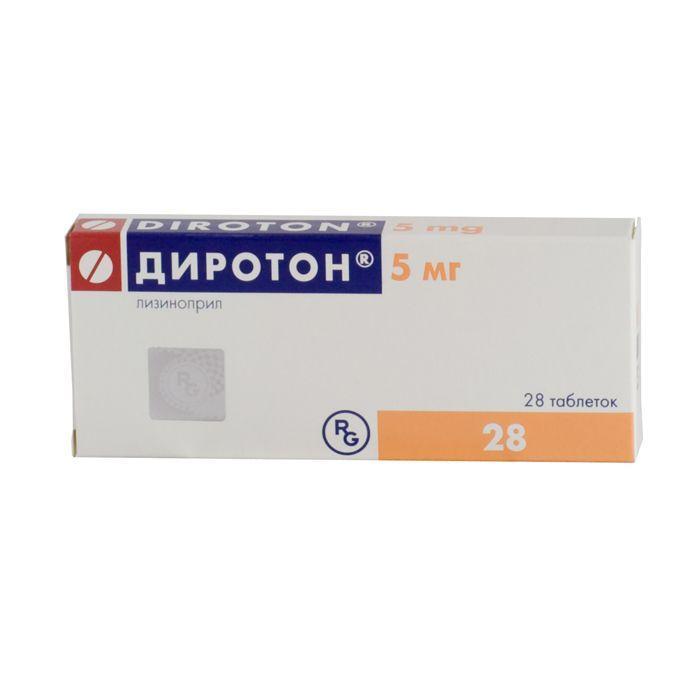 Диротон 5 мг №28 таблетки_60060d8fe38b9.jpeg