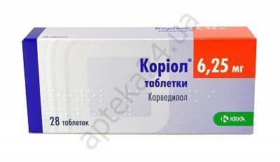 Кориол 6.25 мг N28 таблетки_600610b785023.jpeg
